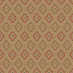 allen + roth Traditional Paisley Wallpaper at Lowes.com - quatrefoil wallpaper in khaki & red