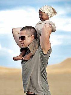 Brad Pitt and baby daughter Zahara