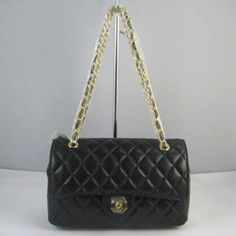 Chanel Coco Bags 1112 Black and Gold Chain