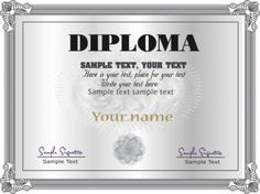 gorgeous diploma certificate template 05 vector