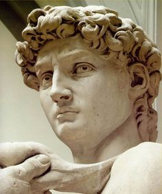 David > like many great sculptures, he has different expressions at different angles.