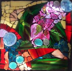 stained glass mosaic block by Sarah Coleman