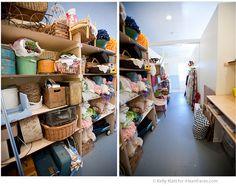 We want prop shelves like this. Photography Studio Tour by Kelly Klatt