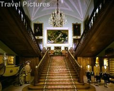 Wiltshire, England - Grand Staircase at Longleat House
