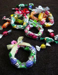 おとなのずがこうさく: 簡単クリスマス工作☃『小さなキャンディーリース』