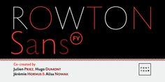 Rowton Sans FY font download