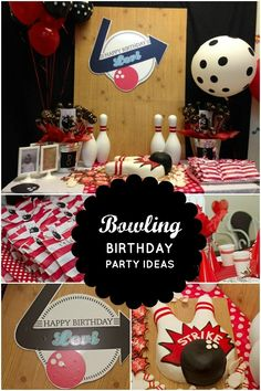 Bowling Birthday Party Ideas www.spaceshipsandlaserbeams.com