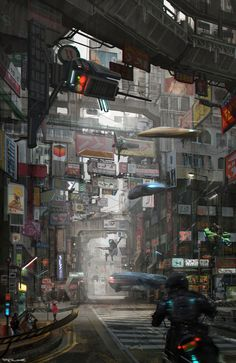 Post with 1184 views. Image dump from my cyberpunk/sci-fi favorites folder. Ville Cyberpunk, Art Cyberpunk, Cyberpunk Aesthetic, Cyberpunk Anime, Arte Ninja, Sci Fi City, Gato Anime, New Retro Wave, Sci Fi Environment