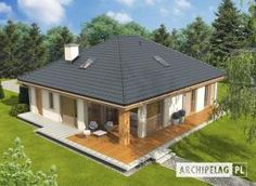 EX 11 (wersja C) soft - projekt domu - Archipelag 2 Storey House Design, Stone Driveway, Country Kitchen Designs, Brick Architecture, Bungalow House Plans, My Home Design, Design Case, Gazebo, Facade