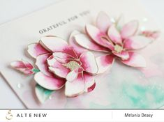 Amazing watercolored flowers by Melania