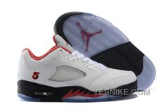 new product a5ffd afb27 Authentic Cheap Air Jordan 5 Lastest Authentic Cheap Air Jordan 5 Low Fire  Red PE White Fire Red-Black 2016 For Sale