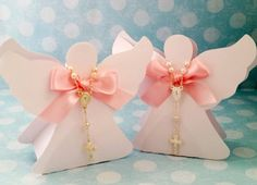 20 candy cup paper angel with mini rosary for por ArtPaperParty