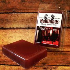 Red Wine Scented Soap 3 oz. Bar www.ManHandsSoap.com