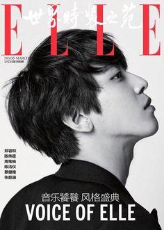 Chine : Jung Yong Hwa (CN BLUE) est le premier artiste masculin coréen à faire la couverture du magazine ELLE