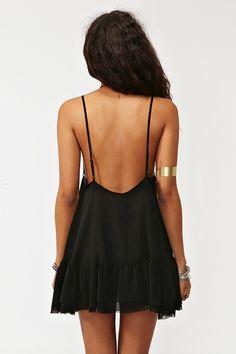 backless babydoll dress