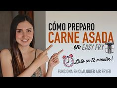 Prepara CARNE ASADA en la AIR FRYER   Lista en tan sólo 12 MINUTOS   Receta Rápida - YouTube Food And Drink, Liliana, Youtube, Wings, Vegan Food, Eating Clean, Slower Cooker, Colombian Food, Youtubers