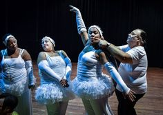 "With wide waists in white tutus, their figures are far from those of typical ballerinas -- but these plus-size Cuban dancers are determined to defy stereotypes.  You come here to feel like a ballerina,"" says Juan Miguel Mas, founder of the Danza Voluminosa troupe.  Members of Danza Voluminosa typically"