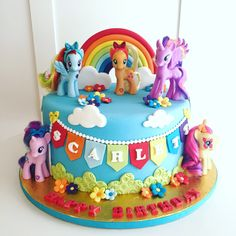 for juliana's birthday 5th Birthday Cake, My Little Pony Birthday Party, Rainbow Birthday Party, Cumple My Little Pony, My Little Pony Cake, Mlp Cake, Rainbow Dash Cake, Girl Cakes, Party Cakes