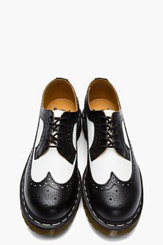 Have these - love these - they are so much fun!  DR. MARTENS Black & White ORIGINALS 3989 5-EYE Longwing BROGUEs
