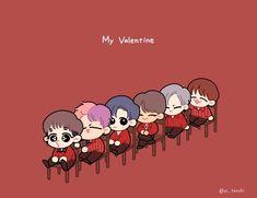 VIXX / EAU / MY VALENTINE / FANART / CHOREOGRAPHY Vixx Wallpaper, Vixx Members, Kpop Fanart, Chibi, Family Guy, Snoopy, Kawaii, Fan Art, Memes