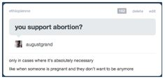 reproductive rights; pro choice is not pro abortion