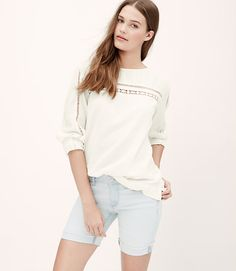 Image of Ladder Lace Blouse