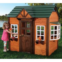 KidKraft My Woodland Playhouse - Give your kids the perfect backdrop for make-believe with the KidKraft My Woodland Playhouse. Darling, airy, and full of fun features, this playhouse ...