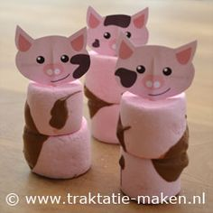 Discover thousands of images about afbeelding traktatie Varkentjes met modder Kids Birthday Treats, Farm Birthday, Cowboy Food, Finger Foods For Kids, Chocolate Covered Marshmallows, Marshmallow Treats, Farm Party, Happy Foods, Food Crafts
