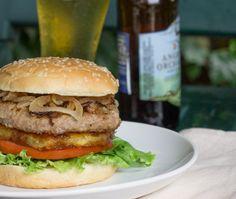 Aloha Burger with grilled pineapple and teriyaki.