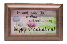 Carson Home Accents Rectangular Happy Graduation Music Box