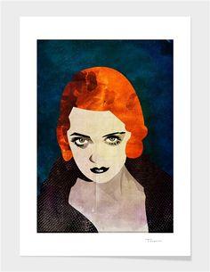 Curioos.com | Bette Davis by Alvaro Tapia Hidalgo  - Gallery Quality Art Print