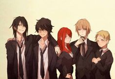 The Marauders and Lily <3