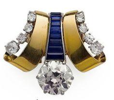 Van Cleef & Arpels, Art Deco Brooch,  le diamant pese 8 carats 50, il aurait été fabriquée en 1938