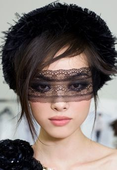 Chanel Masquerade ♥ black lace