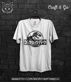 JURASSIC PARK chemise japonais (monde Jurassique tumblr vaporwave esthétique…