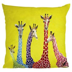 Jellybean Giraffes Pillow