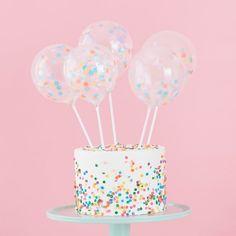 Mini Cake Topper Confetti Balloons Kit, Pastel Party Cake Topper Set, Confetti Balloon Cake Topper K Mini Balloons, Wedding Balloons, Confetti Balloons, Bubblegum Balloons, Latex Balloons, Bolo Confetti, Pastell Party, Deco Cupcake, Mini Bunting