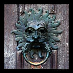 Sanctuary Knocker    Sanctuary Knocker on the door of Durham Cathedral, North East England.