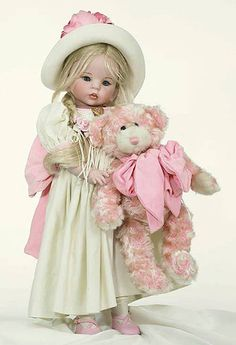 Sherbert by Linda Rick.  Full body porcelain. Dressed. She's 24 inch tall, Beautiful Collectible Porcelain Doll    $500.00 USD