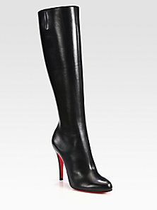 Christian Louboutin - Bourge Leather Knee-High Boots