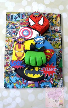 Marvel number cake - Cake by Emmazing Bakes - Visit to grab an amazing super hero shirt now on sale! Avengers Birthday Cakes, 6th Birthday Cakes, Superhero Birthday Party, 3rd Birthday Parties, Boy Birthday, Birthday Ideas, Marvel Cake, Avenger Cake, Number Cakes