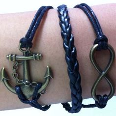 woven bracelets diy infinity anchor by charmbracelet777 on Etsy, $7.70
