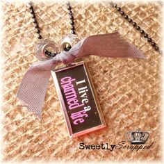 I Live A Charmed Life Necklace Vintage by SweetlyScrappedArt, $14.50