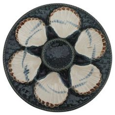 Check out this item at One Kings Lane! Majolica Oyster Wall Plate RT