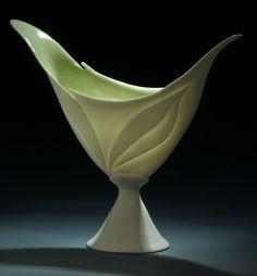 Antoinette Badenhorst in Gift Shop at American Museum of Ceramic Art