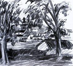 Paisaje 65-2003 Fuente Obejuna Dibujo Original por PINACOTHECULA
