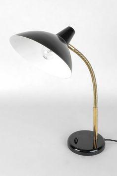 AMBA Tischlampe Messing 60er