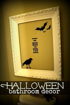 halloween decor, frame | today's creative blog