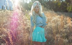 Download wallpapers Aida Ridic, fashion model, photoshoot, blonde, beautiful woman