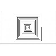 13 inch spiral quilting template quilt ez long arm 13 inch fine square spiral quilting template quilt ez pronofoot35fo Images